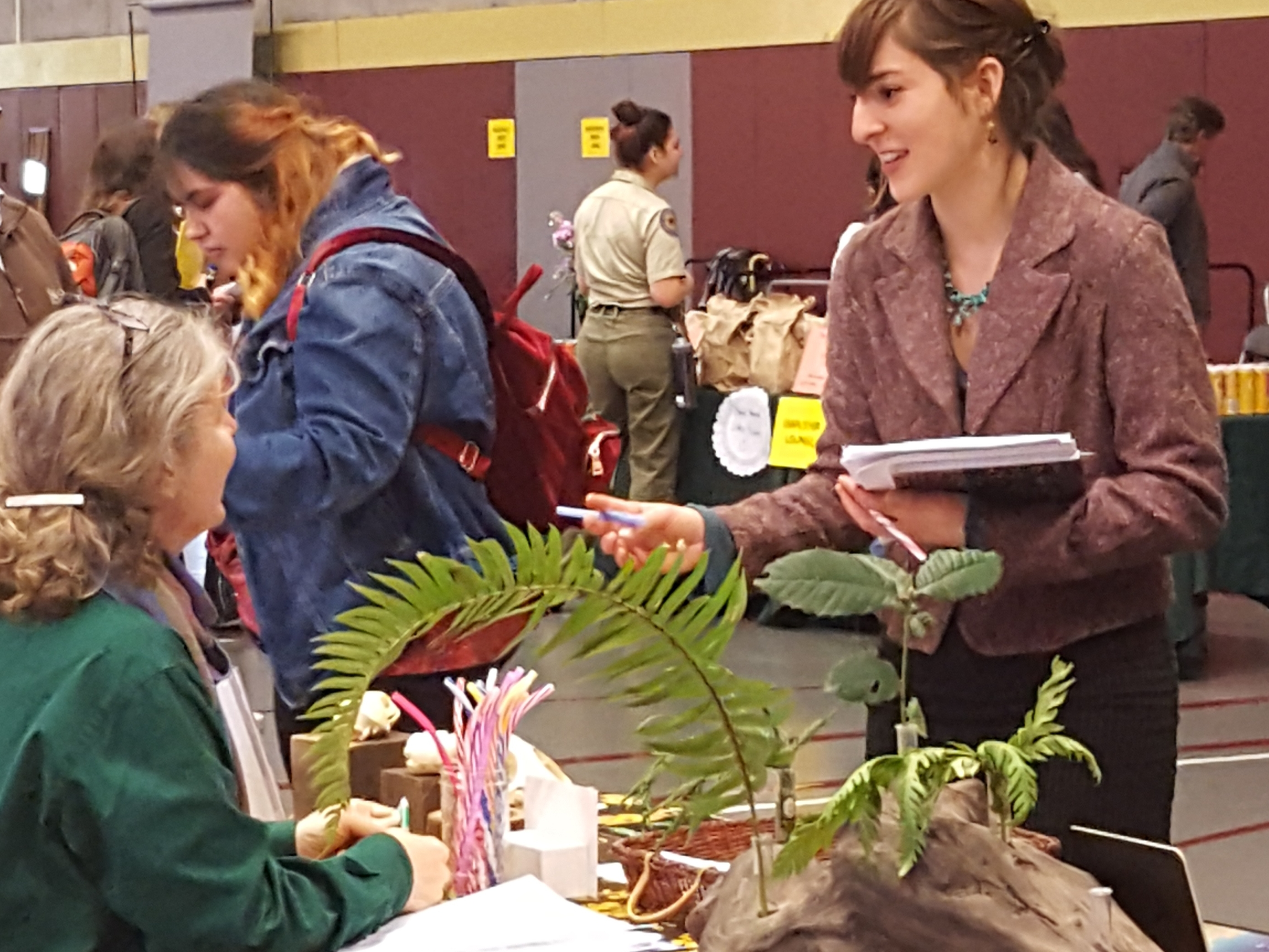 Expo tabling with plant