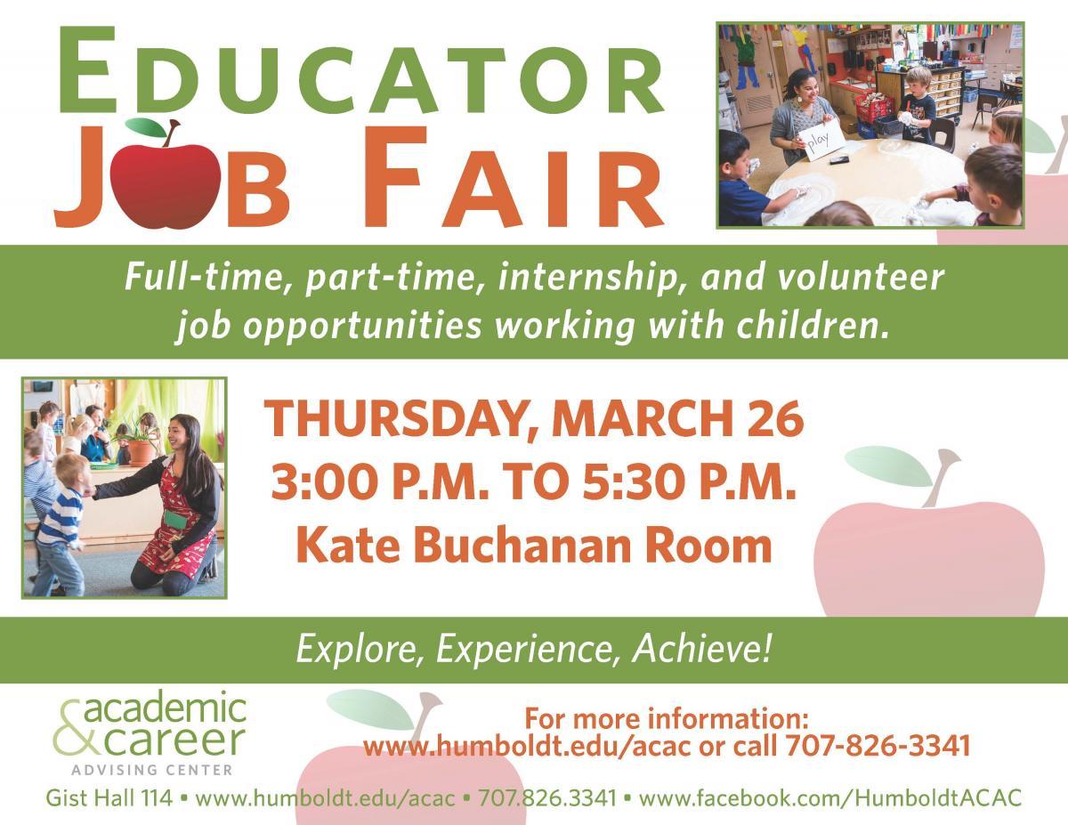 Educator Job Fair, March 27