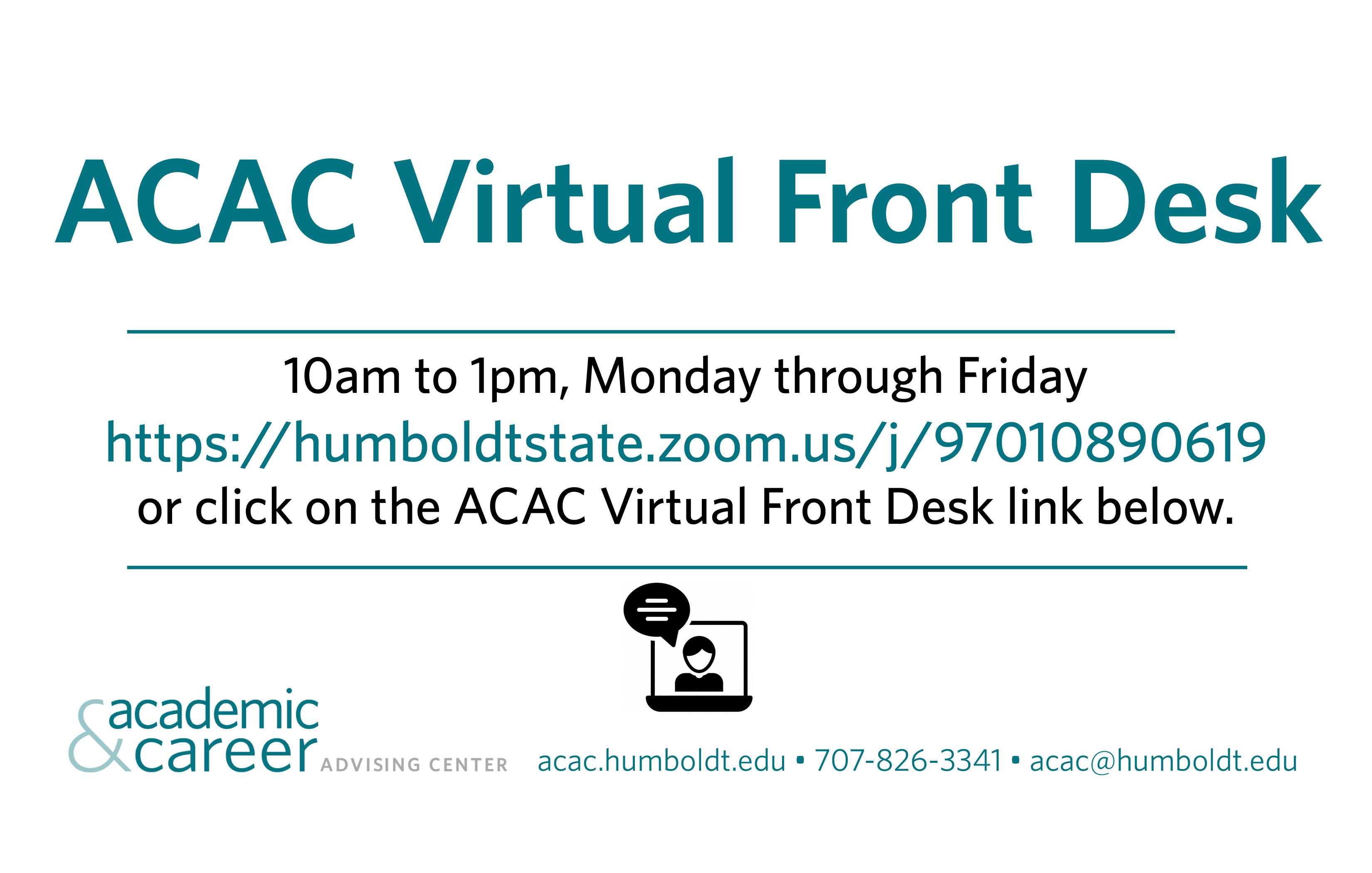 virtual front desk zoom humboldtstate.zoom.us/j/97010890619