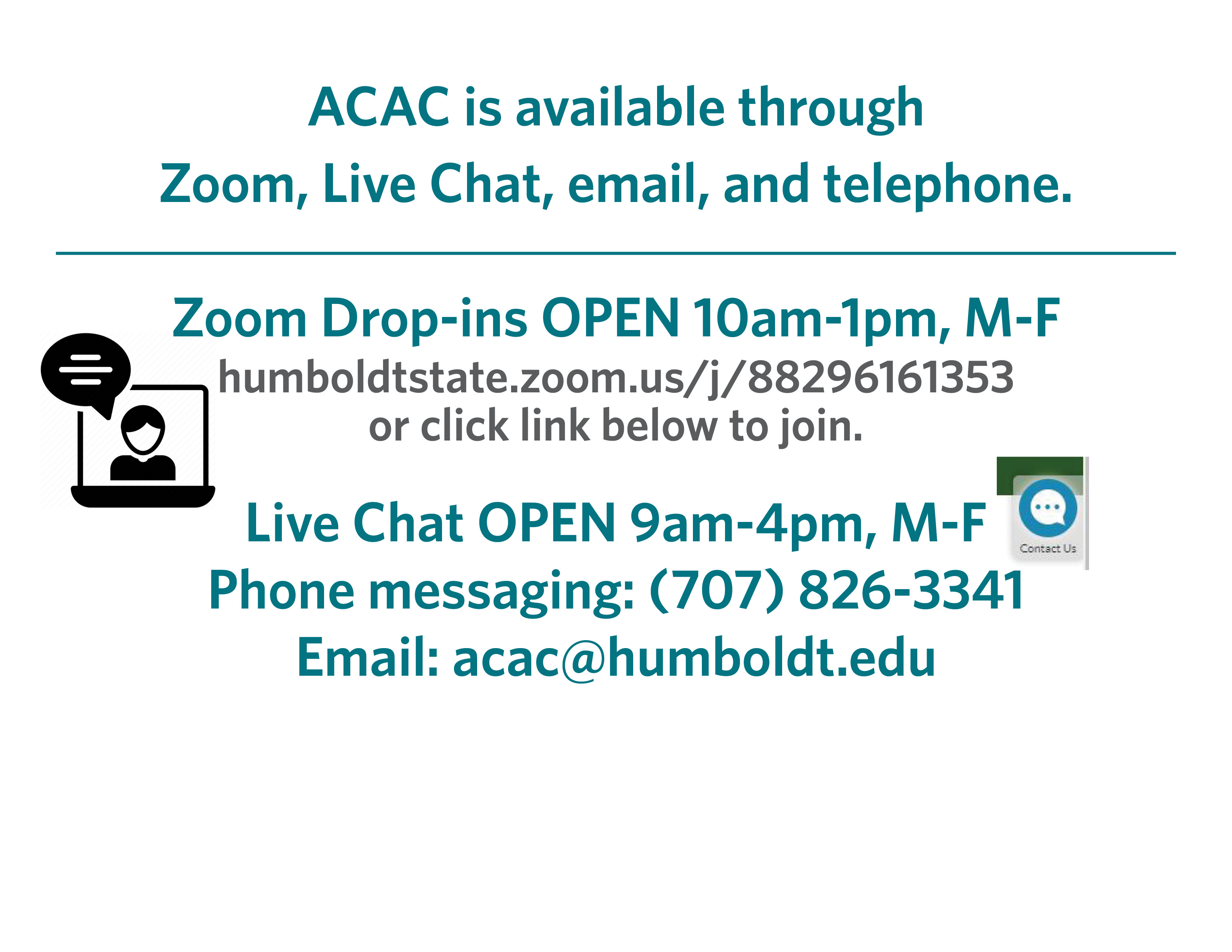 ACAC open summer virtually. please download ZOOM