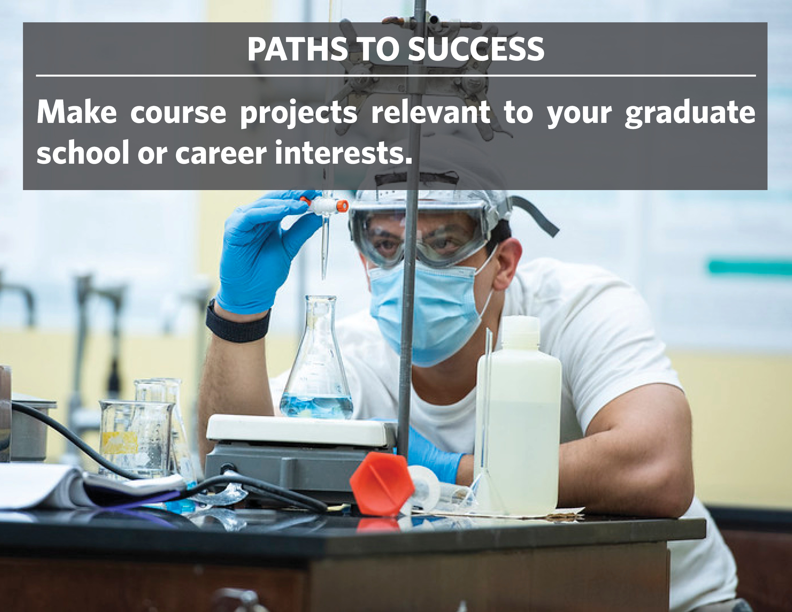 Path to Success Make course projects relevant to your graduate school or career interests